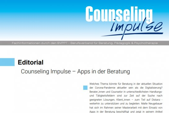 Counseling Impulse Januar 2021